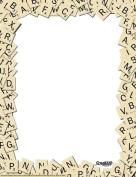 Eureka Scrabble Letter Tiles 20cm x 28cm Computer Paper Frame, 50-Sheets