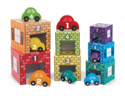 Melissa & Doug Kids' Nesting & Sorting Garages & Cars Toy