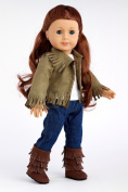 Siege Jacket - 4 piece outfit includes jacket, tank top, skinny jeans and boots - American Girl Doll Clothes