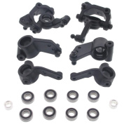 HPI 1/10 Blitz * FRONT UPRIGHTS, AXLE CARRIERS, STEERING BLOCKS & 8 BEARINGS *