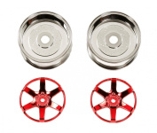 Tamiya #54552 Red Plated 6-Spoke Wheels - 26mm Width / Offset +4 (2) for Tamiya Miscellaneous