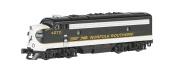 Bachmann Industries EMD F7-A Diesel Locomotive DCC Equipped Norfolk Southern Train Car, Black/Grey, N Scale