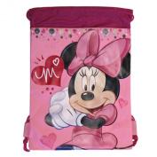 Pink Minnie Mouse Drawstring Backpack - Large Drawsting Bag