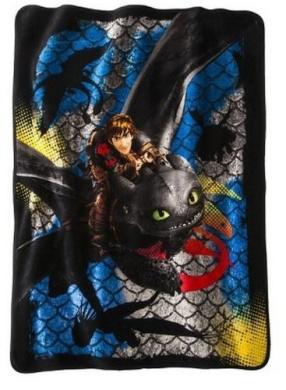 How to Train Your Dragon 2 Dragon Scale Super Plush Throw 120cm x 150cm