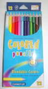 Watercolour Pencils, Blendable Colours. 12 Pack