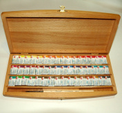 48 White Nights Watercolour Paint Set Beech Box with brush