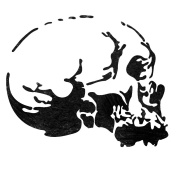 J BOUTIQUE STENCILS Skeleton head Stencil Airbrush template for Craft Scrapbooking Graffiti