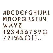 J BOUTIQUE STENCILS Alphabet Stencil Reusable Template for Wall Art Crafting and Painting Signs