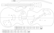 Electric Guitar Routing Template - LP