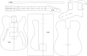 Electric Guitar Routing Template - '72 Thin