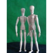 Solid Wood 25cm Articulated Person Manikin Model