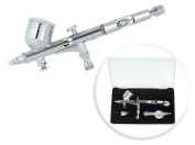 Dual-Action 9cc Gravity-Feed Airbrush Set w/ MAC Valve - 0.2mm Nozzle