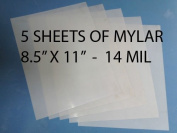 Heavy Duty 14mil Mylar Stencil Sheets - .36cm Thick Polyester Sheet 22cm x 28cm