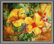 Diy oil painting, paint by number kit- Lily love 16*50cm .