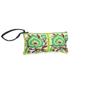 Changnoi Green Hill Tribe Coin Pouch Hmong Embroidered Thailand Handmade
