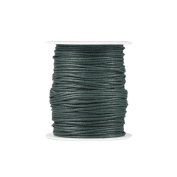 1 piece for 80m Waxed Cotton Cord Colour Dark Green Size 1.5x1.5mm