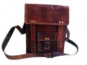 Men's 28cm Genuine Leather Cross Body Vintage Shoulder Messenger Satchel Ipad Tab Bag