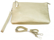 PROYA Collection Classic Buckle Lock Leather Crossbody Wristlet All-in-one Organiser