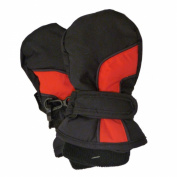 CP Infant Boys Navy Black & Red Waterproof Snow & Ski Mittens