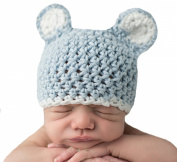 Melondipity's Blue Sugar Bear Boy Hat with White Trim