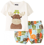 Mud Pie Baby-Boys Infant Moose Nappy Cover Set