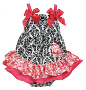Stephan Baby Swing Top and Ruffled Nappy Cover, Little Diva Hot Pink and Black, 18-24 Months