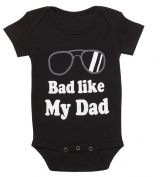 Bad Like My Dad Infant Nappy Shirt Onesie by Ganz
