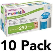 Munchkin Baby Nappy Disposal Bin System Blue Replacement Refill Bags
