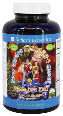 Nature's Dynamics - Berry Garden Gummy Whole Food Omega-3 Orange - 60 Gummies