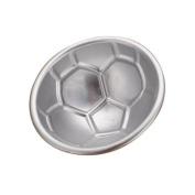 Water & Wood 7.1cm 3D Football Soccer Ball Aluminium DIY Birthday Cake Baking Jello Pan Mould Mould