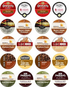 20 Cup NUTTY for Nut Coffees! 10 different Nut inspired Single Serve cups. Hazelnut , Toasted Hazelnut +