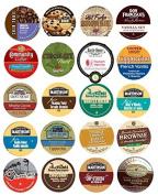 20 Cup Delicious CHOCOLATE & VANILLA Divine Sampler! Fudge, Vanilla Velvet, Chocolate Truffle, Vanilla Nut +
