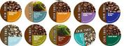 10 Cup CAZA TRAIL Sampler! Kona...Donut Lover's...Dark Roast..Sumatra Gayo...Balance Blend+