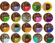 20 Cup CAZA TRAIL Sampler! 20 Unique Varieties! Kona...Donut Lover's...Dark Roast..Sumatra Gayo...Balance Blend+