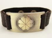 Inspiration Seal of Solomon Bracelet, Leather, Adjustable