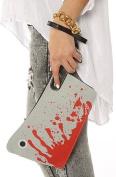 Bloody Cleaver Hatchet Knife Kreepsville 666 Halloween Horror Clutch Purse Handbag