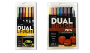 Tombow Dual Brush Pen Set (16 Pack Primary and Secondary Colours)