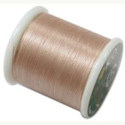 Japanese Nylon Beading K.O. Thread for Delica Beads - Natural Beige 50 Metres
