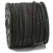 3.0MM Split Suede Leather Lace Black 25 Yard Spool 42669