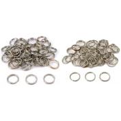Nickel Plated Split Rings 12mm & 16mm Kit 100 Pcs