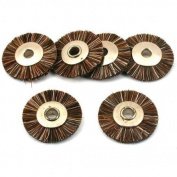 6 Medium Hair Wheel Brush Jewellers Polishing Tool 1.9cm