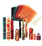 Beeswax Candle Rolling Kit with Decorating Ideas, in Pastel Colours