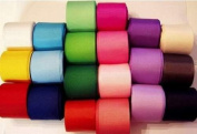 25 colours x 5 yards each 2.2cm Solid Grosgrain ribbon- All the Makings