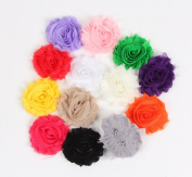 Cloris Shabby Chiffon Fabric Flowers WITHOUT Clips Assorted Colours