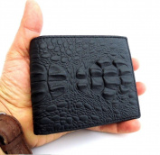 Men Money Clip Genuine Leather Wallet Coin Pocket Retro Purse Art Crocodile Craftsmanship + Box.