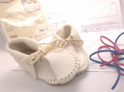 Baby Shoe White Moccasin Kit 4608-00 By Tandy Leather