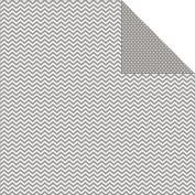 Sn@p! Colour Vibe Double-Sided Cardstock 30cm x 30cm -Grey Chevron/Mini Dot 25 per pack