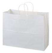 "41cm x 15cm x 12"" - 50 Pcs - White Kraft Paper Bags, Shopping, Mechandise, Party, Gift Bags"