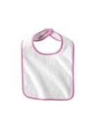 Infant Terry Snap Bib - WHITE/PINK - OS