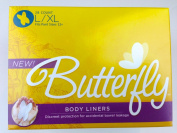 Butterfly Body Liners Pads Size L/XL (28 Count) Anal Leakage